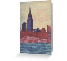 empire state silhouette Greeting Card