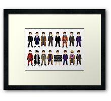 The Doctor's Wardrobe - Ten Framed Print