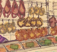 hanging meat by purplestgirl