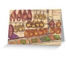 hanging meat Greeting Card
