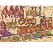 hanging meat Photographic Print