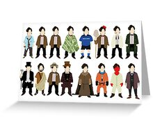 The Doctor's Wardrobe - Eleven Greeting Card