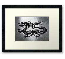 Vintage Metal Dragon Framed Print