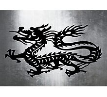 Vintage Metal Dragon Photographic Print
