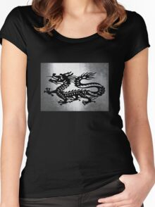 Vintage Metal Dragon Women's Fitted Scoop T-Shirt