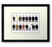 The Doctor's Wardrobe - Twelve Framed Print