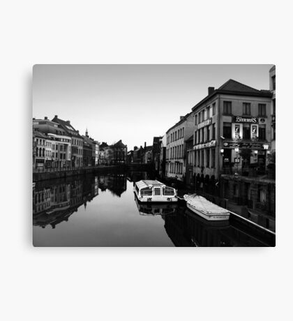 Beer Canals Canvas Print