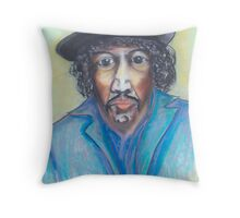 The Young Late Jimmy Hendrix Throw Pillow