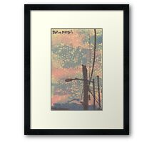 telephone wires and lamp Framed Print