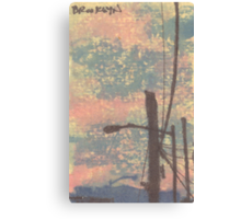telephone wires and lamp Canvas Print