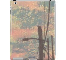 telephone wires and lamp iPad Case/Skin