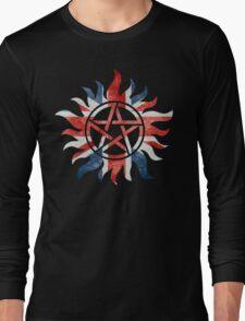 Supernatural Union Jack Anti-Possession Print Long Sleeve T-Shirt