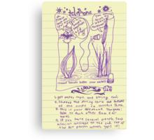 telephone game Canvas Print