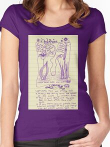 telephone game Women's Fitted Scoop T-Shirt
