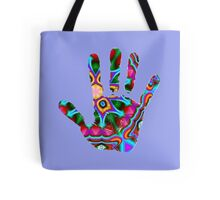Psychedelic Hand Print Tote Bag