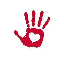 Red hand heart Photographic Print