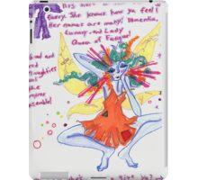 run ragged fairy iPad Case/Skin
