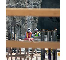 Construction Workers Photographic Print