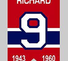 Maurice Richard - retired jersey #9 by ianscott76