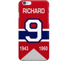 Maurice Richard - retired jersey #9 iPhone Case/Skin