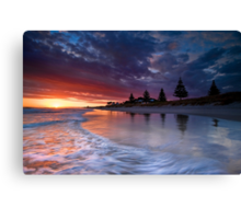 Papamoa Domain Dawn Rush Canvas Print