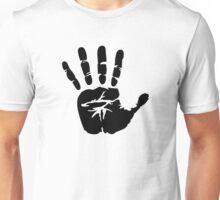 Black handprint Unisex T-Shirt
