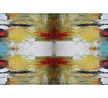 Butterfly Effect - Red Green Abstract Art  Photographic Print