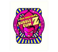 bubble gum z Art Print