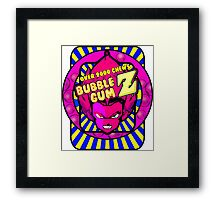 bubble gum z Framed Print