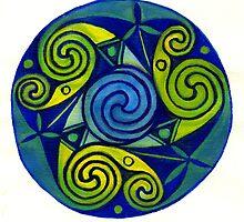 Leaf Spiral by earthskyart