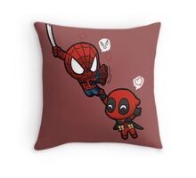 spidey and pool Throw Pillow