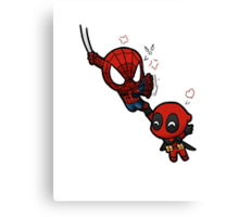 spidey and pool Canvas Print