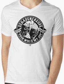 Original Schadenfreude logo by Tai's Tees Mens V-Neck T-Shirt