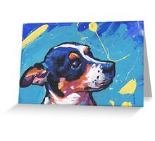 Rat Terrier Dog Bright colorful pop dog art Greeting Card