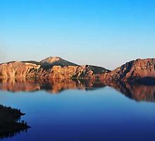 Crater Lake View I by artsphotoshop