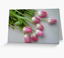 Fallen Tulips Greeting Card