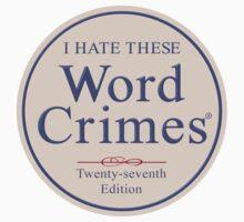 Word Crimes Baby Tee