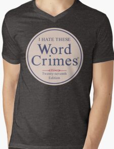 Word Crimes Mens V-Neck T-Shirt