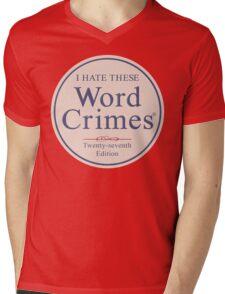 Word Crimes Mens V-Neck T-Shirt