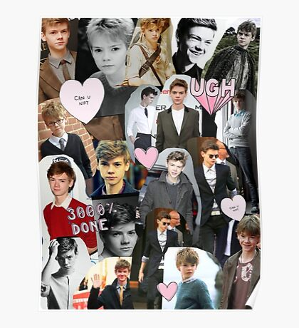 Thomas Brodie-Sangster Collage Poster