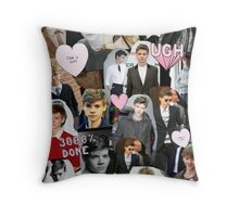 Thomas Brodie-Sangster Collage Throw Pillow