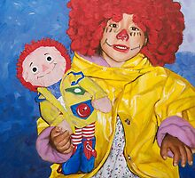 Two Dolls (Because of Marnie and Stephen King) by Karen Yee