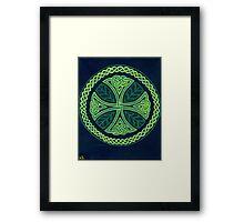 Foliate Cross Framed Print