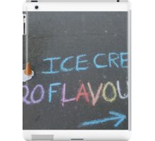 Icecream pavement signage with a twist iPad Case/Skin