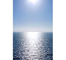Shining Blue Sea Photographic Print