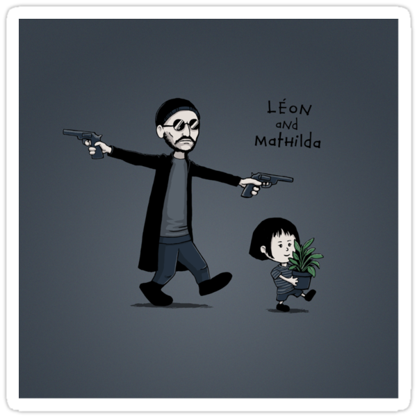 Leon and Mathilda - STICKER by tyna