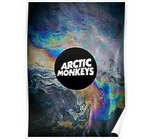 Arctic Monkeys Logo Oil Slick Poster