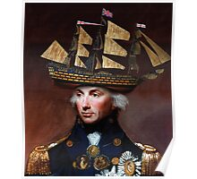 Admiral Nelson - Ship Hat Poster