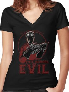 Dr. Horrible's Evil School of Evil Women's Fitted V-Neck T-Shirt