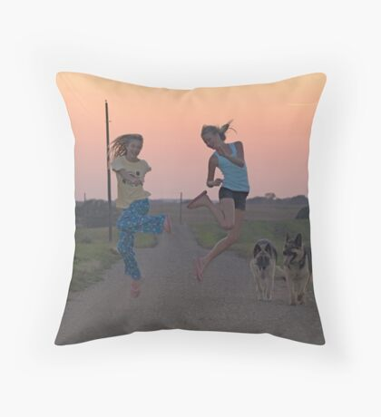 Adolescent Joy Throw Pillow